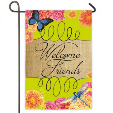 Welcome Friends Summer Garden Flag