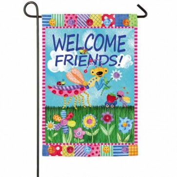 Welcome Garden Friends Garden Flag