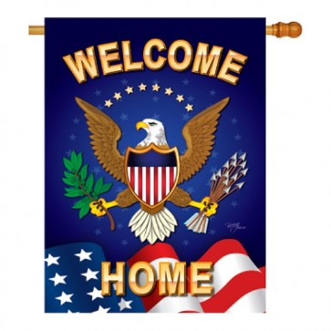 Welcome Home House Flag