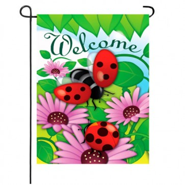 Superieur Welcome Ladybug Garden Flag