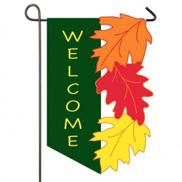 Welcome Leaves Garden Flag