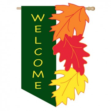 Welcome Leaves House Flag