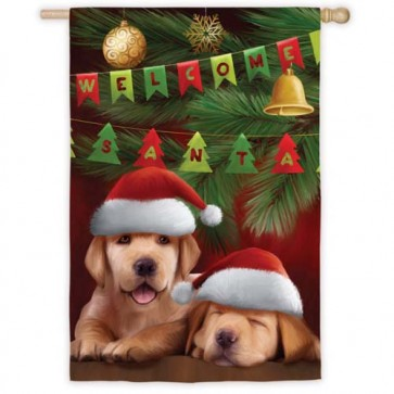Welcome Santa House Flag