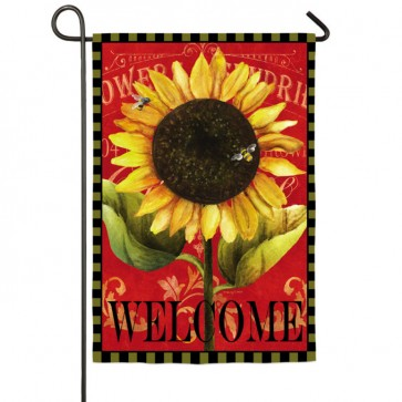 Sunflower Welcome Garden  Flag