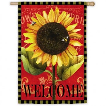 Sunflower Welcome House Flag