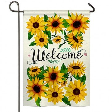 Welcome Sunflowers Bouquet Garden Flag