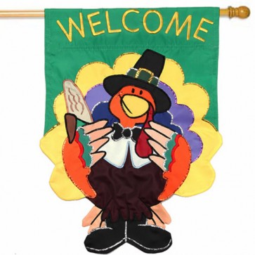 Welcome Turkey House Flag