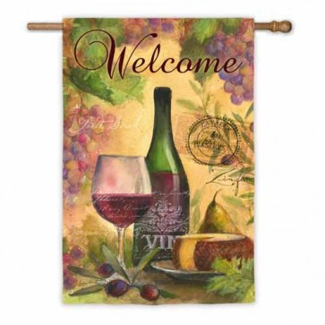 Wine and Cheese Welcome House Flag