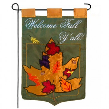 Welcome Fall Y'all Fall Garden Flag