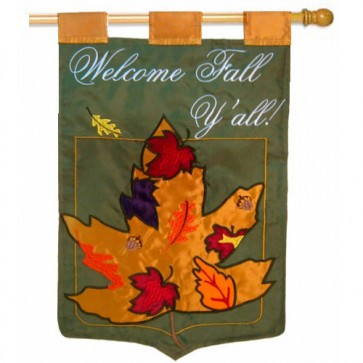 Welcome Fall Y'all House Flag