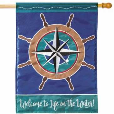 Welcome to Life on the Water House Flag