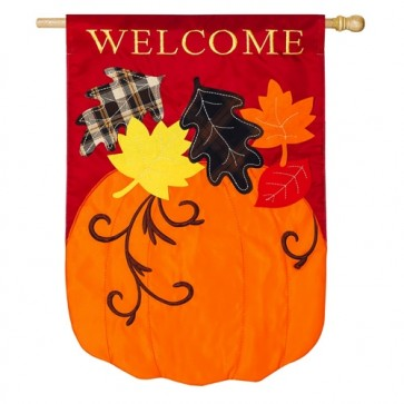 Welcome Fall House Flag