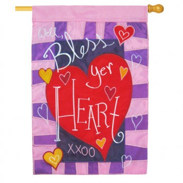 Well Bless Your Heart Valentine's Day House Flag