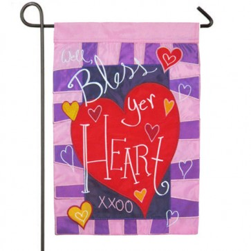 Well Bless Your Heart Valentine's Day Garden Flag