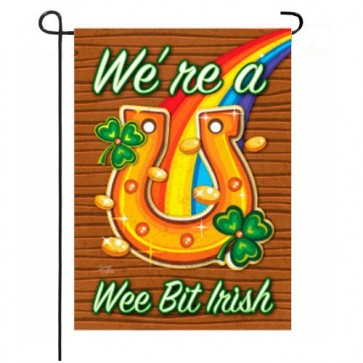 We're a We Bit Irish  Garden Flag