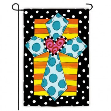 Whimsey Cross Garden Flag