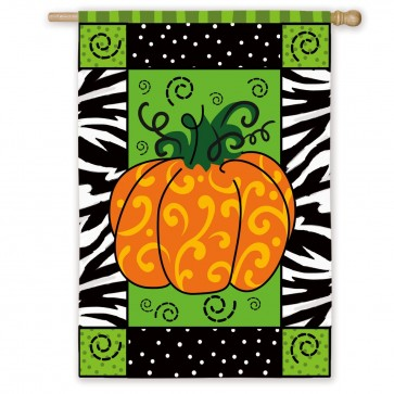 Whimsey Pumpkin House Flag