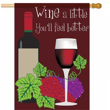 Wine a Little Summer House Flag