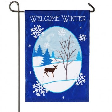 Winter Welcome Garden Flag