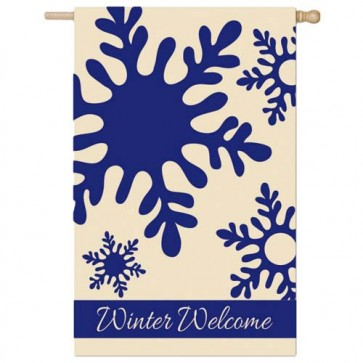 Winter Welcome House Flag