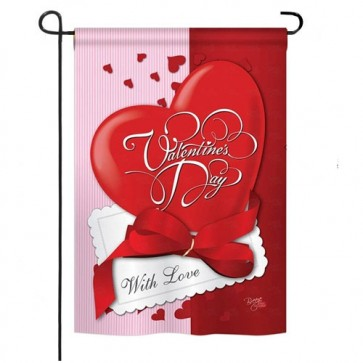 With Love Valentine's Day Garden Flag