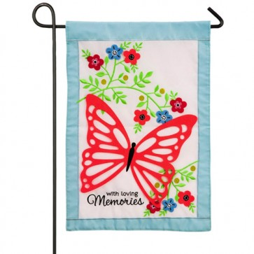 With Loving Memories Cemetery Garden Flag