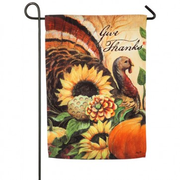 Woodland Turkey Garden Flag