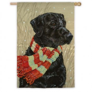 Wrapped Up Retriever House Flag