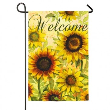 Yellow Sunflowers Welcome Garden Flag