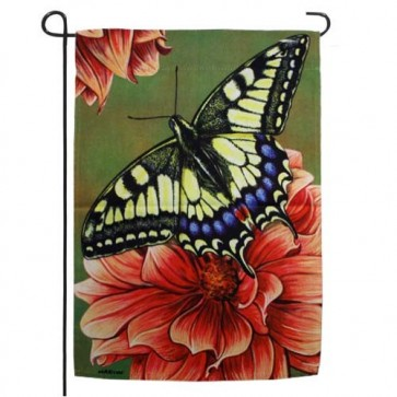 Yellow Swallowtail Butterfly Garden Flag