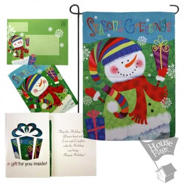 Snowman Garden Flag (EverGreetings Set)