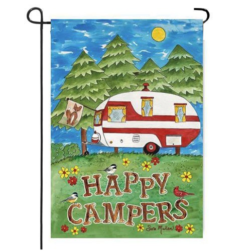 Camping Fun Garden Flag Fun Garden Flags Themed Garden Flags