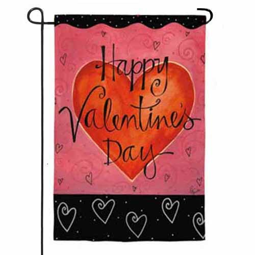 Be Mine And Happy Valentines Day Garden Flag