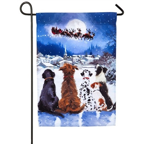 Beau Christmas Dogs Garden Flag