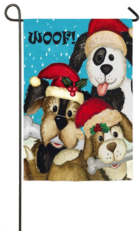 Christmas Dogs Garden Flag Dog Flags Animal Flags Themes