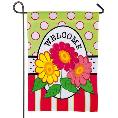 Daisy Welcome Garden Flag Flags On Sale Clearance