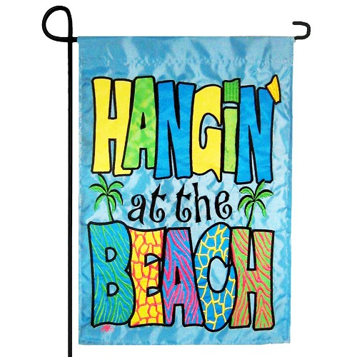 Hangin At The Beach Summer Garden Flag