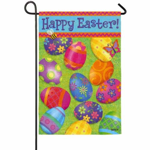Happy Easter Garden Flag Easter Flags Holidays