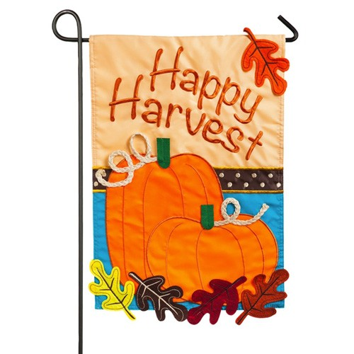 Happy Harvest Garden Flag Fall Flags Seasons