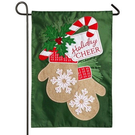 holiday cheer mittens christmas garden flag - Christmas Mittens
