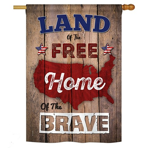 Land Of The Free House Flag Featured
