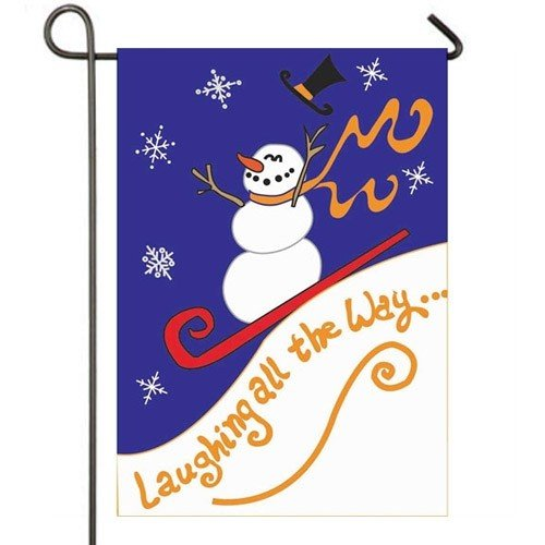 Genial Laughing All The Way Winter Garden Flag