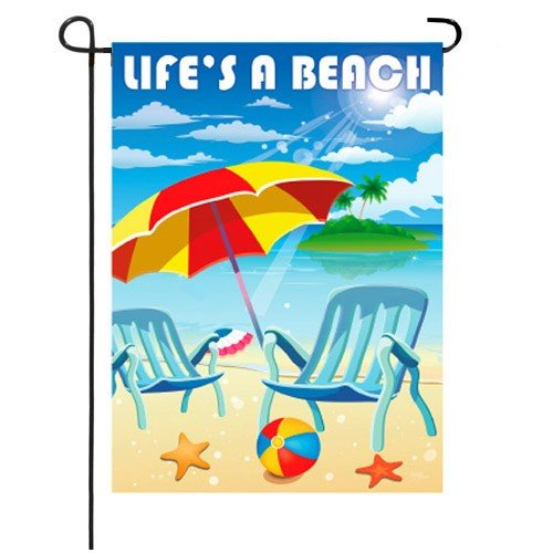 Wonderful Lifeu0027s A Beach Summer Garden Flag