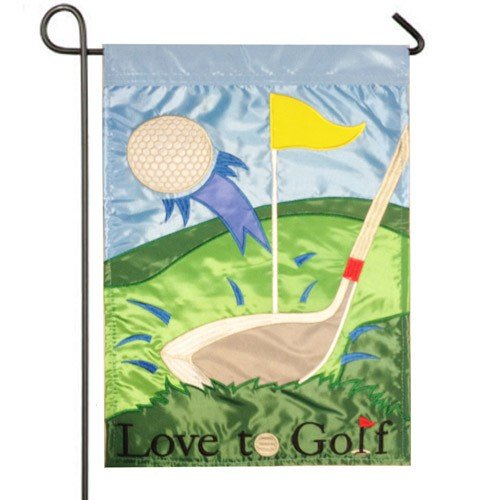 Lovely Love To Golf Garden Flag