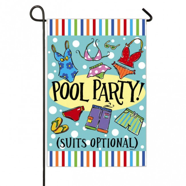 Pool Party Garden Flag Garden Flags On Sale Flags On