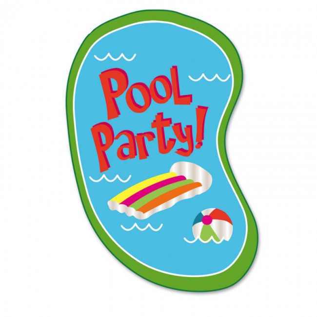 Pool party garden flag for Garden pool party