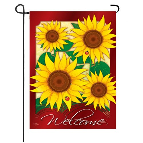 Welcome Sunflowers Garden Size Flag TG 54067