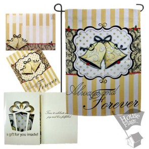 Always and Forever Garden Flag (EverGreetings Set)