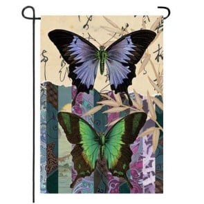 Asian Butterfly Garden Flag