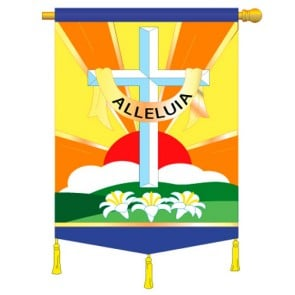 Alleluia Easter House Flag